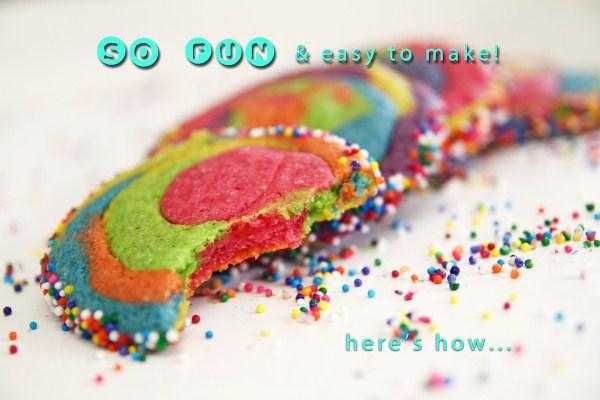 Rainbow Swirl Sugar Cookies: Colorful, Fun, Yummy!