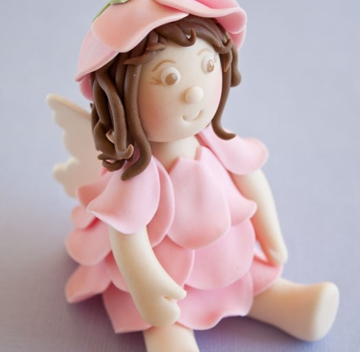 How to make a flower fairy cake topper