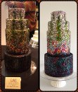And Queen of Hearts Couture Cakes, took home Silver for their stained glass cake...