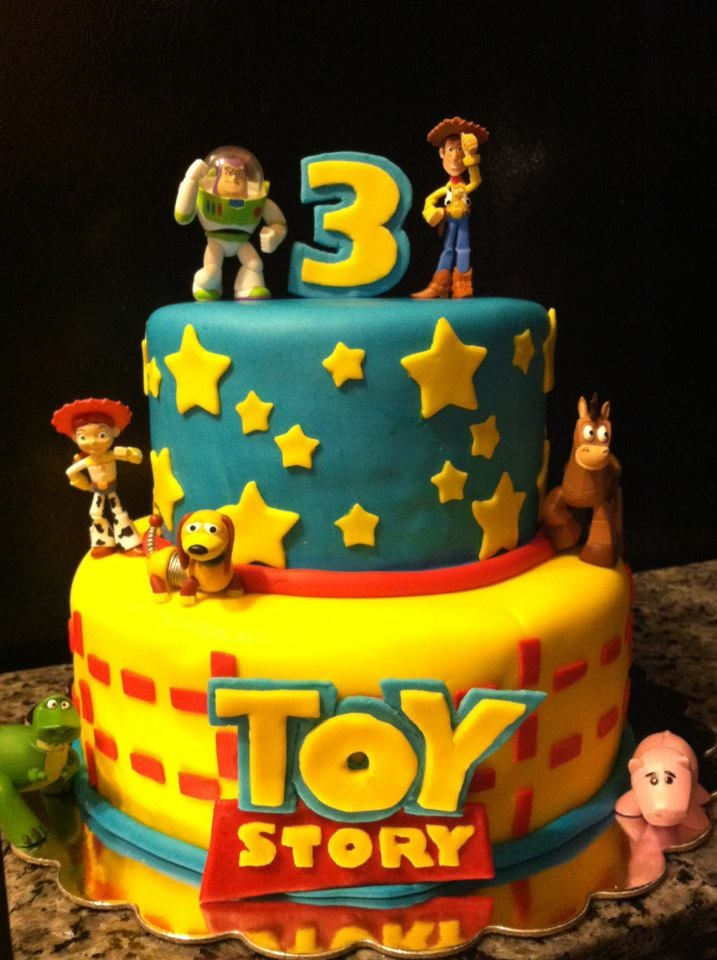 Terrific Toy Story Birthday Cake Personalised Birthday Cards Rectzonderlifede