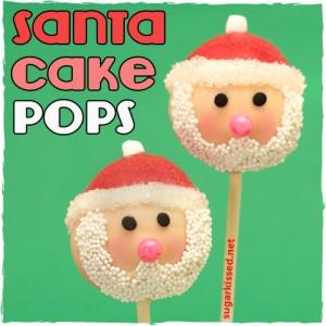 Santa Christmas Cake Pops | sugarkissed.net