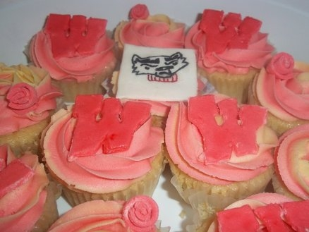 Wisconsin Badger Cupcakes
