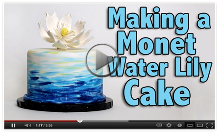 How to make a Monet Water Lily Cake