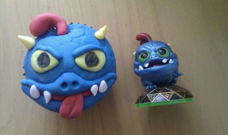Skylander Wrecking Ball Cupcake