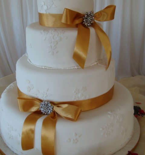 Lace and Gold Ribbons