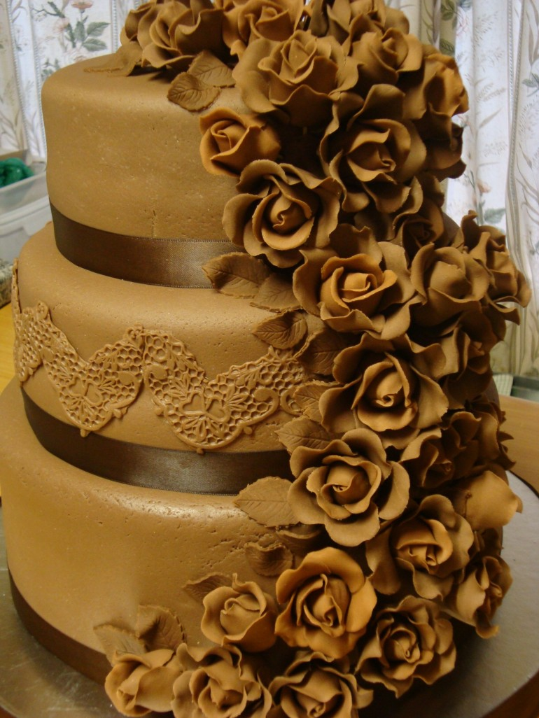 Chocolate Lace and Roses
