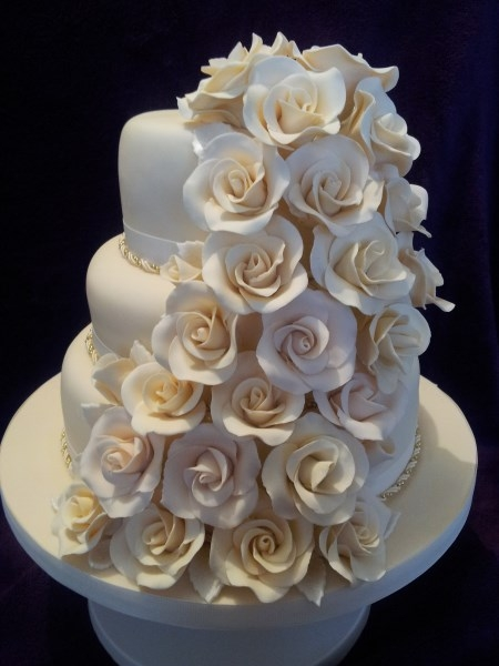 My first tiered wedding cake