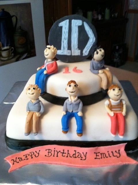 Prime One Direction Cake Personalised Birthday Cards Paralily Jamesorg