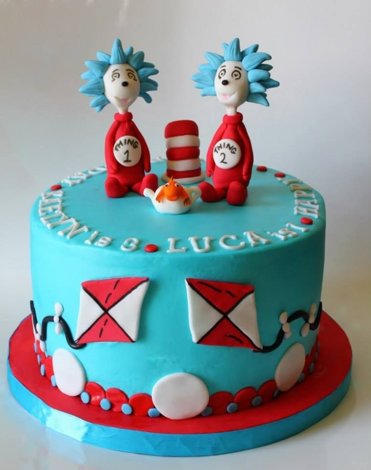 Thing 1 And Thing 2 Cake Edible Artists Network