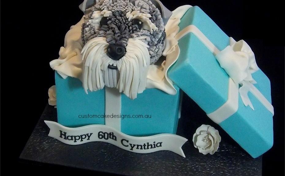 Schnauzer Dog Birthday Cake Edible Artists Network