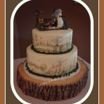 hand painted on buttercream grooms cake