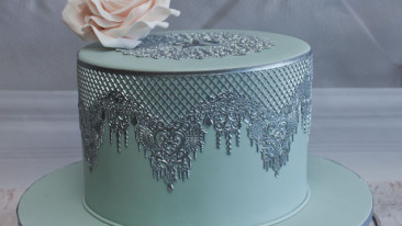 Silver Lace cake
