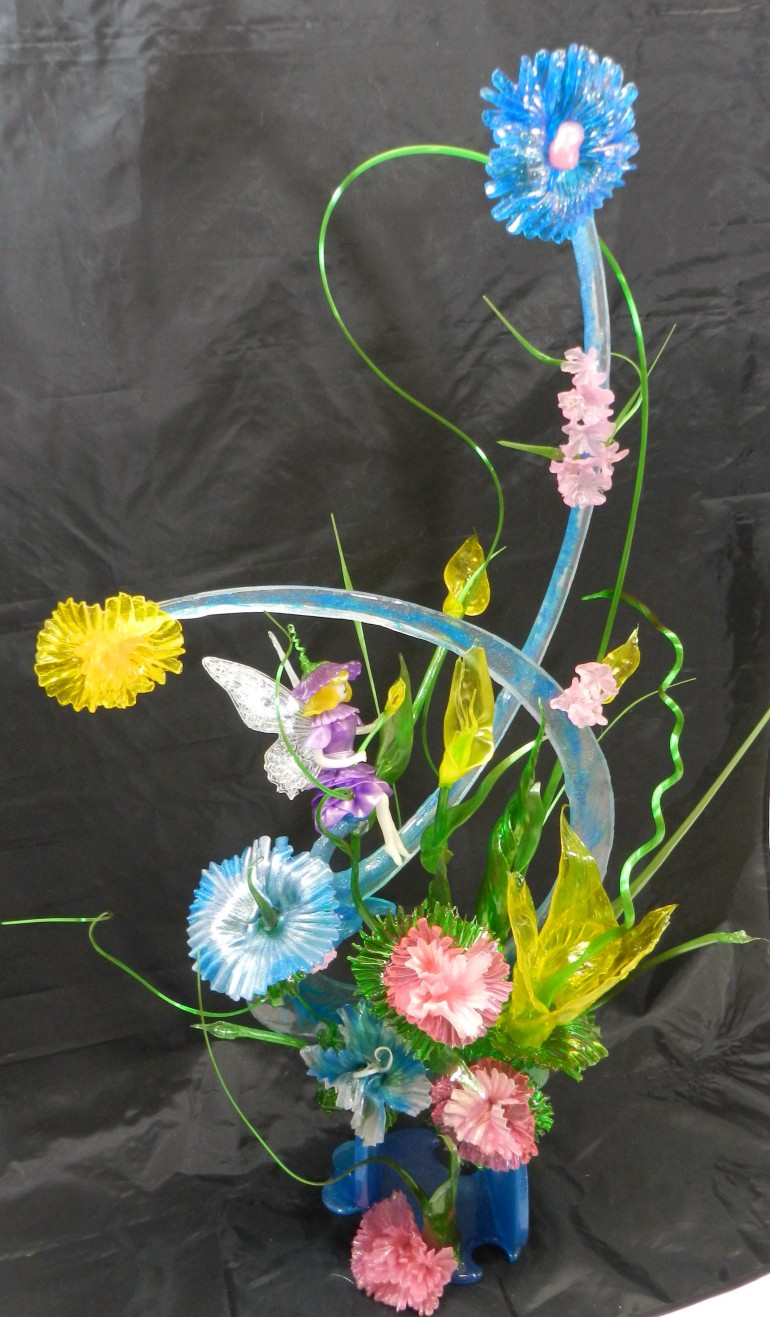 Isomalt Tutorial – Flower Garden Fairy Sculpture by Peggy Tucker