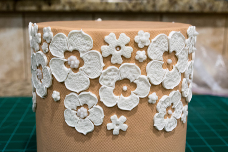 Belgian Lace Wedding Cake Tutorial