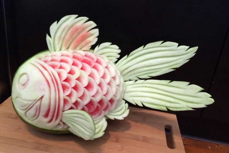 How to Carve a Watermelon Fish Tutorial