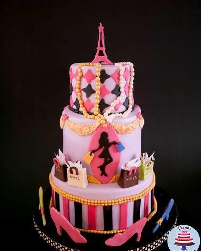 Paris Fashion Theme Cake by Veena Azmanov!