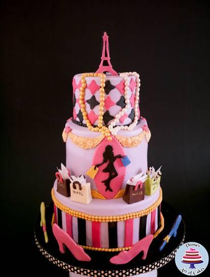 Paris Cake – Paris Fashion Theme Cake by Veena Azmanov!