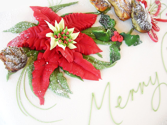 Buttercream Poinsettia – Piped