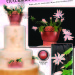 Christmas Cactus in Bloom Tutorial – by Diane Gruenberg