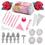 Cake Decorating Supplies| 54 Pcs Baking Supplies Set| Russian Tips| Large Icing Nozzles|Fondant Tool Kit| 25 Disposable Piping Bags And Coupler| Extra Large Cupcake Decorations Kit| Best Kitchen Gift