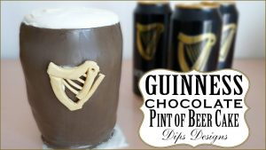 Guinness Chocolate Pint of Beer Cake   Cake Decorating Ideas