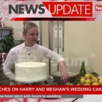 Final touches on Harry and Meghan's wedding cake