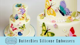 Butterflies Silicone Embossers for Cake Deocrating