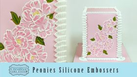 Peonies Silicone Embossers for Cake Decorating