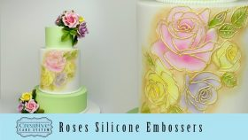 Roses Silicone Embossers for Cake Decorating