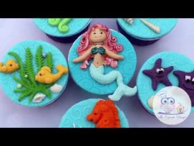 Add Little Mermaids to Cakes and Cookies using Fondant!