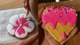 Awesome Cookies Art Decorating Ideas Compilation - most satisfying cake decorating video