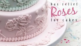 Bas Relief Roses For Cakes