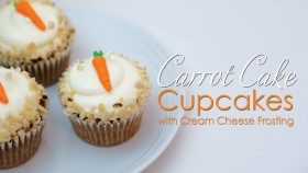 Carrot Cake Cupcakes Recipe with cream cheese frosting Tutorial & Recipe