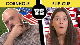 Cornhole or Flip-Cup, better tailgating game? - Back Porch Bickerin'