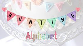 Create Bunting Letters to personalise your cakes!