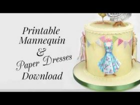 Create Edible Dresses and Mannequins for Cake Decorating Projects!