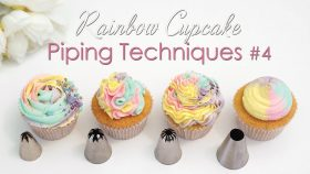 Cupcake Piping Techniques Tutorial #4 - With Rainbow Swirls