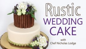 Decorating a Rustic Wedding Cake with Sugar Flowers