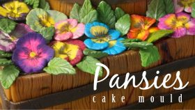 Easy Flowers For Cakes - Pansies Cake Decorating Mould