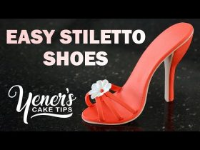 How to Make EASY STILETTO SHOES Tutorial | Yeners Cake Tips with Serdar Yener from Yeners Way
