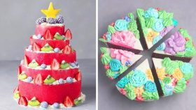 How to Decorate a Pretty Cake For Party | Beautiful Cake Decorating Ideas | Yummy Cake Recipes