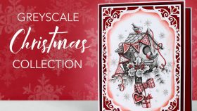 Greyscale Christmas Card Making Project