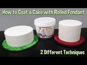 How to Coat a Cake with Fondant Tutorial - 2 Different Techniques