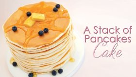 How to make a stack of Pancakes out of Cake - Cake Decorating