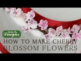 How To Make Cherry Blossom Flowers For Cakes