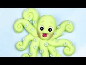 Add a Whimsical Fondant Octopus to Cakes and Cookies, Perfect for Under the Sea Cakes!