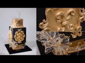 Black and Gold Glam Cake Tutorial - Free Sample - Making the Baroque Style Curly Decorations