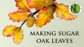 Make Sugar Oak Leaves For Cakes   Full Tutorial WIth Chef Nicholas Lodge