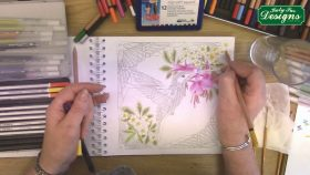 Make your own work of art with the Birds Art Colouring Book