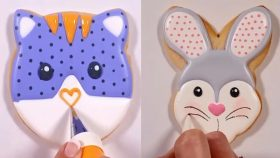 How to Make Beautiful Cookies Art  Decorating  - Awesome Cookies - Satisfying Cake Decorating Videos